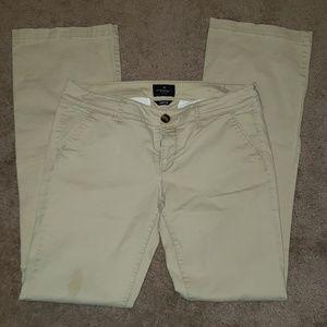 AEO light tan pants